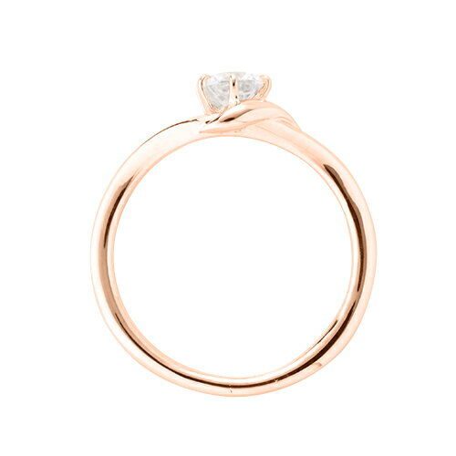 指輪 18金 ピンクゴールド 天然石 一粒リング 主石の直径約3 8mm ソリティア V字 六本爪留め K18PG 18k 貴金属 ジュエリー レディース メンズ8nwOXP0k