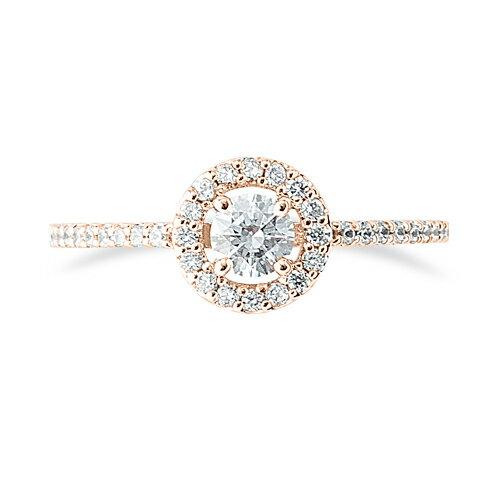 指輪 18金 ピンクゴールド 天然石 サイド一文字の取り巻きリング 主石の直径約3 8mm 四本爪留め K18PG 18k 貴金H9be2WEIDY