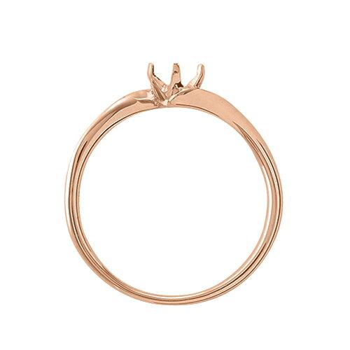 指輪 18金 ピンクゴールド 天然石 一粒リング 主石の直径約4 4mm ソリティア ウェーブ 六本爪留め|K18PG 18k 貴金属 ジュエリー レディース メンズdoxrCBe