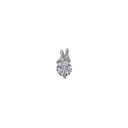 ペンダントトップ 18金 ホワイトゴールド 天然石 N イニシャルモチーフの一粒ペンダント 主石の直径約4.4mm ペンダントヘッドのみ K18WG 18k 貴金属 ジュエリー レディース メンズ