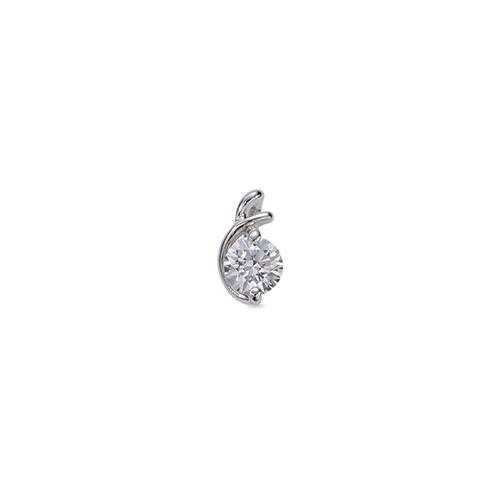 ペンダントトップ 18金 ホワイトゴールド 天然石 E イニシャルモチーフの一粒ペンダント 主石の直径約4.4mm ペンダントヘッドのみ|K18WG 18k 貴金属 ジュエリー レディース メンズ