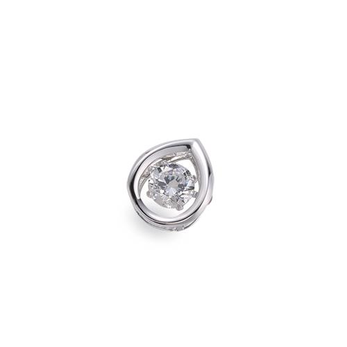 ペンダントトップ 18金 ホワイトゴールド 天然石 主石が揺れるティアドロップ型の一粒ペンダント 主石の直径約4.4mm ダンシングストーン ペンダントヘッドのみ|K18WG 18k 貴金属 ジュエリー レディース メンズ