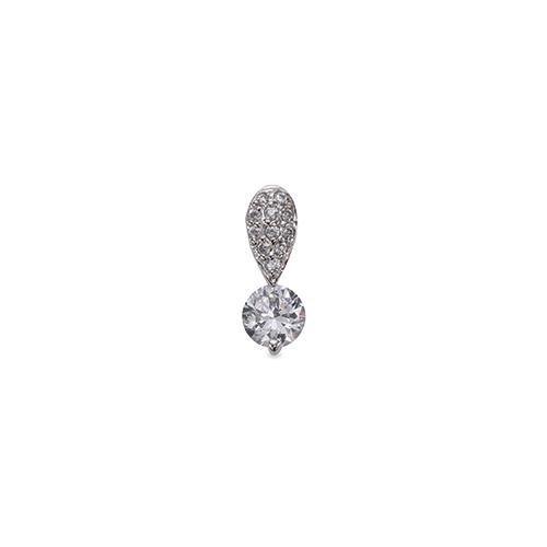 ペンダントトップ 18金 ホワイトゴールド 天然石 パヴェバチカンの一粒ペンダント 主石の直径約5.2mm 二本爪留め ペンダントヘッドのみ|K18WG 18k 貴金属 ジュエリー レディース メンズ