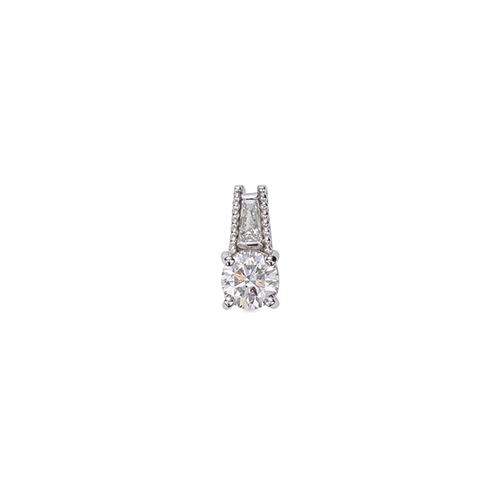 主石の種類が選べる、高級感が漂う18金と天然石のペンダントトップ ペンダントトップ 18金 ホワイトゴールド 天然石 テーパーメレ付きバチカンの一粒ペンダント 主石の直径約4.4mm ミル打ちバチカン 四本爪留め ペンダントヘッドのみ K18WG 18k 貴金属 ジュエリー レディース メンズ