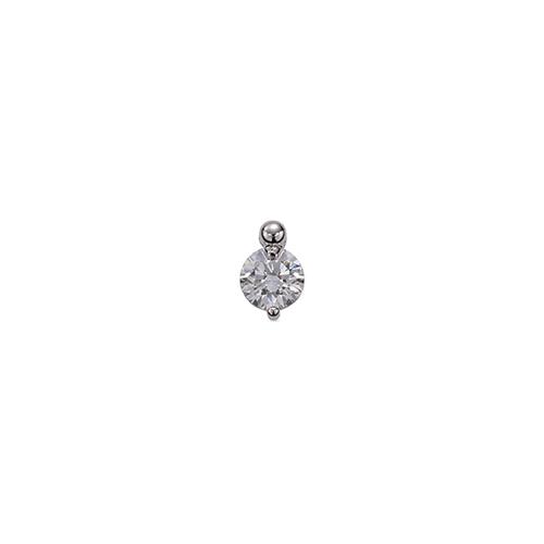 ペンダントトップ 18金 ホワイトゴールド 天然石 一粒ペンダント 主石の直径約5.2mm 二本爪留め ペンダントヘッドのみ|K18WG 18k 貴金属 ジュエリー レディース メンズ
