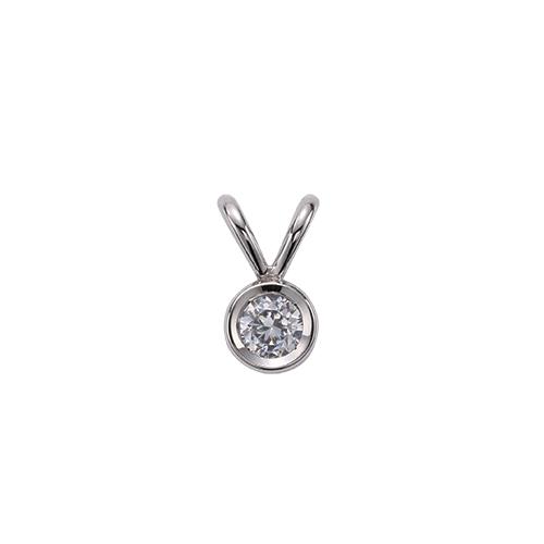 ペンダントトップ 18金 ホワイトゴールド 天然石 一粒ペンダント 主石の直径約5.2mm ダブルバチカン ちょこ留め ペンダントヘッドのみ|K18WG 18k 貴金属 ジュエリー レディース メンズ