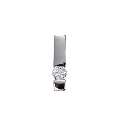 ペンダントトップ 18金 ホワイトゴールド 天然石 一粒ペンダント 主石の直径約4.8mm レール留め ペンダントヘッドのみ|K18WG 18k 貴金属 ジュエリー レディース メンズ
