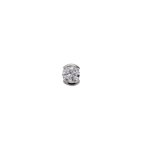 ペンダントトップ 18金 ホワイトゴールド 天然石 一粒スルーペンダント 主石の直径約3.8mm レール留め ペンダントヘッドのみ|K18WG 18k 貴金属 ジュエリー レディース メンズ