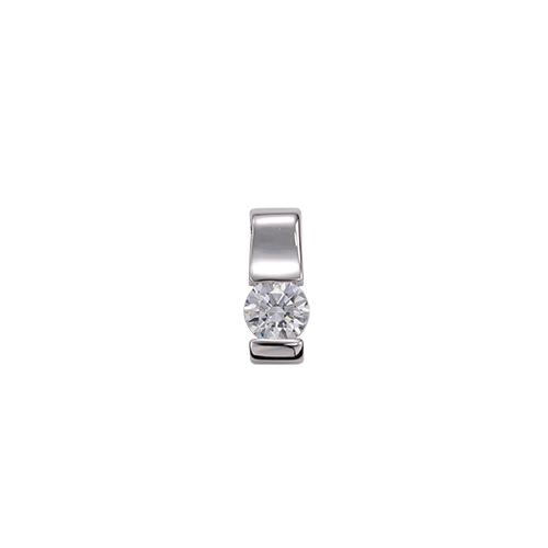 ペンダントトップ 18金 ホワイトゴールド 天然石 一粒ペンダント 主石の直径約4.4mm レール留め ペンダントヘッドのみ|K18WG 18k 貴金属 ジュエリー レディース メンズ