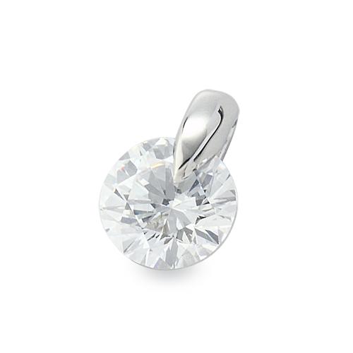 ペンダントトップ 18金 ホワイトゴールド ダイヤモンド 一粒ペンダント 主石の直径約3.8mm 一点留め ペンダントヘッドのみ K18WG 18k 貴金属 ジュエリー レディース メンズ