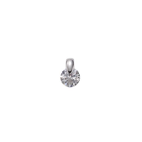 ペンダントトップ 18金 ホワイトゴールド ダイヤモンド 一粒ペンダント 主石の直径約4.4mm 一点留め ペンダントヘッドのみ|K18WG 18k 貴金属 ジュエリー レディース メンズ