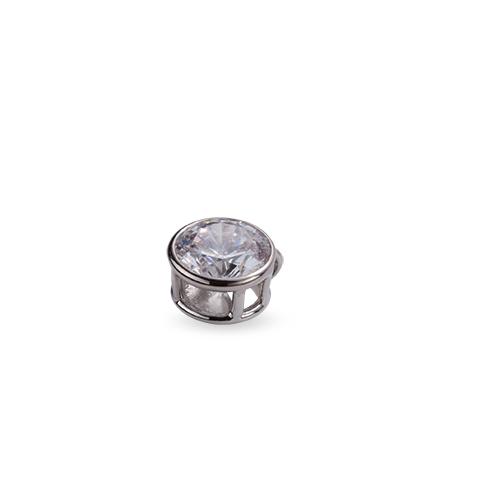 ペンダントトップ 18金 ホワイトゴールド 天然石 一粒ペンダント 主石の直径約3.8mm ペンダントヘッドのみ|K18WG 18k 貴金属 ジュエリー レディース メンズ