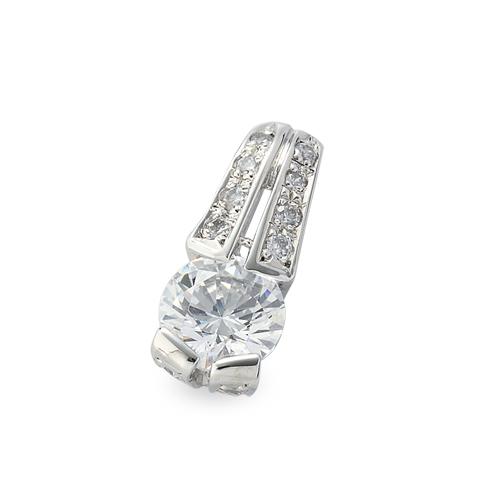 主石の種類が選べる、高級感が漂う18金と天然石のペンダントトップ ペンダントトップ 18金 ホワイトゴールド 天然石 メレ付きバチカンの一粒ペンダント 主石の直径約5.2mm レール留め ペンダントヘッドのみ|K18WG 18k 貴金属 ジュエリー レディース メンズ
