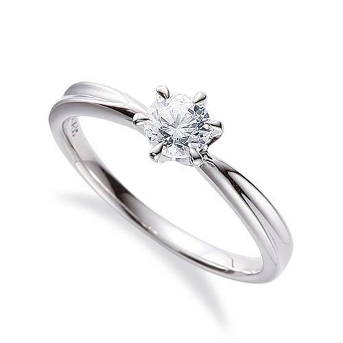 指輪 18金 ホワイトゴールド 天然石 一粒リング 主石の直径約3.8mm ソリティア しぼり腕 六本爪留め|K18WG 18k 貴金属 ジュエリー レディース メンズ