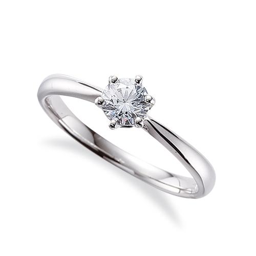 指輪 18金 ホワイトゴールド 天然石 一粒リング 主石の直径約4.4mm ソリティア しぼり腕 六本爪留め|K18WG 18k 貴金属 ジュエリー レディース メンズ