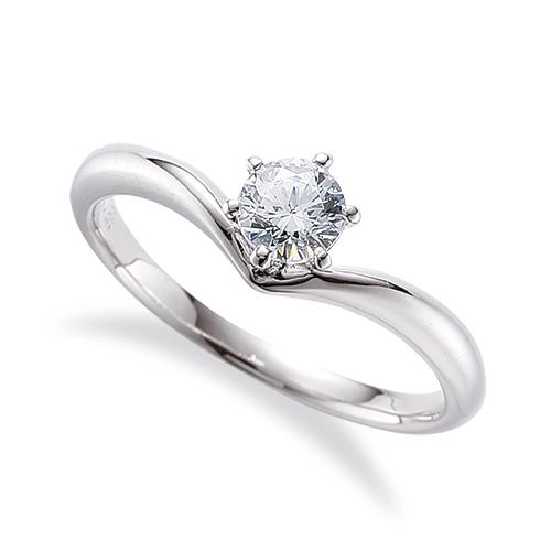 指輪 18金 ホワイトゴールド 天然石 一粒リング 主石の直径約3.8mm ソリティア V字 しぼり腕 六本爪留め|K18WG 18k 貴金属 ジュエリー レディース メンズ