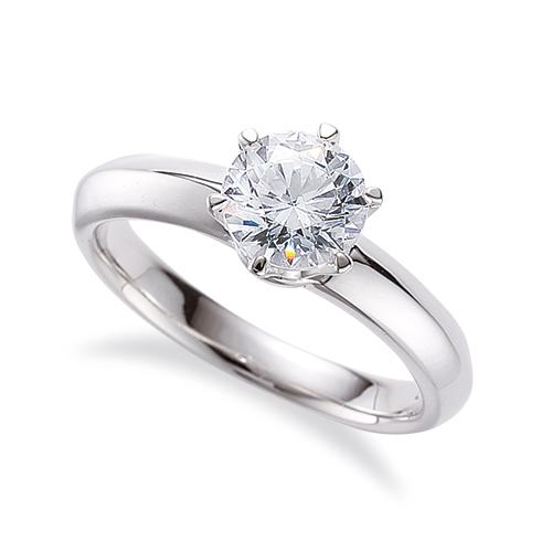 指輪 18金 ホワイトゴールド 天然石 一粒リング 主石の直径約5.2mm ソリティア 六本爪留め|K18WG 18k 貴金属 ジュエリー レディース メンズ