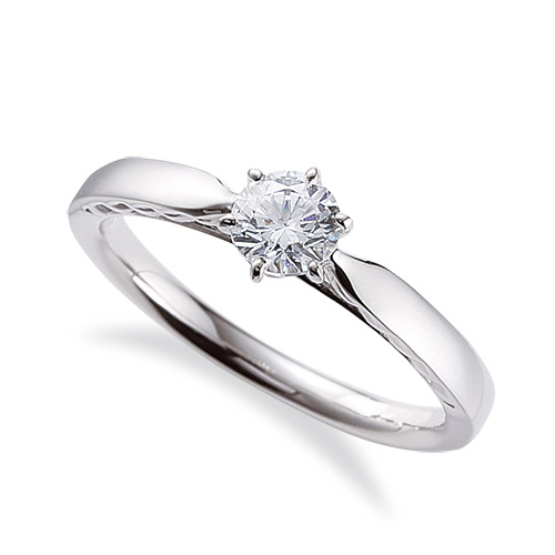 指輪 18金 ホワイトゴールド 天然石 側面透かし一粒リング 主石の直径約4.4mm ソリティア 平打ち 六本爪留め|K18WG 18k 貴金属 ジュエリー レディース メンズ