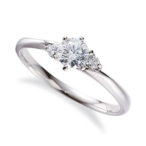 指輪 18金 ホワイトゴールド 天然石 サイドストーンリング 主石の直径約4.4mm 六本爪留め K18WG 18k 貴金属 ジュエリー レディース メンズ