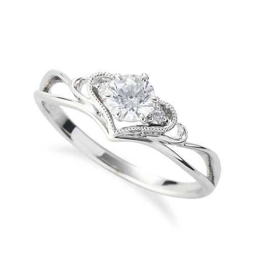 指輪 18金 ホワイトゴールド 天然石 ティアラモチーフのデザインリング 主石の直径約4.4mm 割り腕 六本爪留め|K18WG 18k 貴金属 ジュエリー レディース メンズ