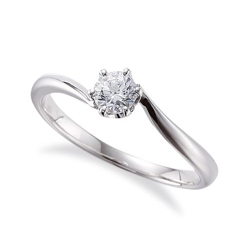 指輪 18金 ホワイトゴールド 天然石 石座にメレをセットした一粒リング 主石の直径約4.1mm ソリティア ウェーブ 六本爪留め|K18WG 18k 貴金属 ジュエリー レディース メンズ