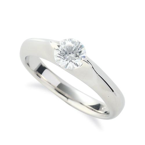 指輪 18金 ホワイトゴールド 天然石 一粒リング 主石の直径約3.8mm ソリティア 二本爪留め|K18WG 18k 貴金属 ジュエリー レディース メンズ