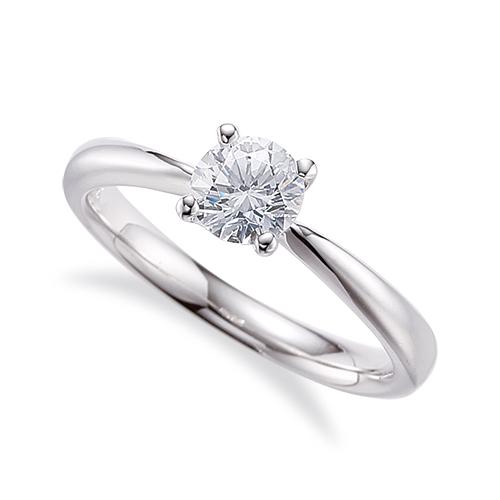 指輪 18金 ホワイトゴールド 天然石 一粒リング 主石の直径約5.2mm ソリティア しぼり腕 四本爪留め|K18WG 18k 貴金属 ジュエリー レディース メンズ