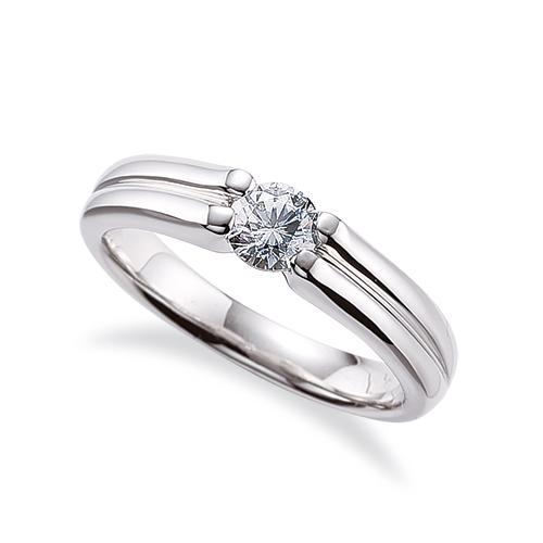 指輪 18金 ホワイトゴールド 天然石 ダブルラインの一粒リング 主石の直径約4.4mm ソリティア 四本爪留め|K18WG 18k 貴金属 ジュエリー レディース メンズ