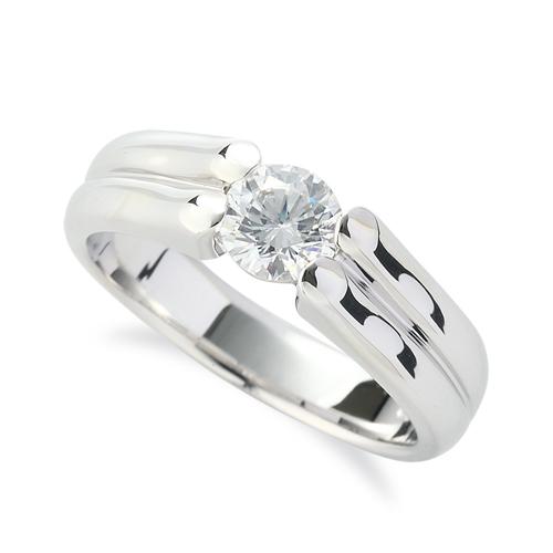 指輪 18金 ホワイトゴールド 天然石 ダブルラインの一粒リング 主石の直径約5.2mm ソリティア 四本爪留め|K18WG 18k 貴金属 ジュエリー レディース メンズ