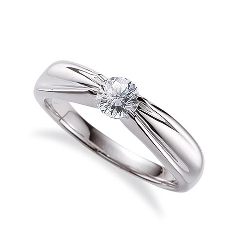 指輪 18金 ホワイトゴールド 天然石 一粒リング 主石の直径約3.8mm ソリティア 四本爪留め K18WG 18k 貴金属 ジュエリー レディース メンズ
