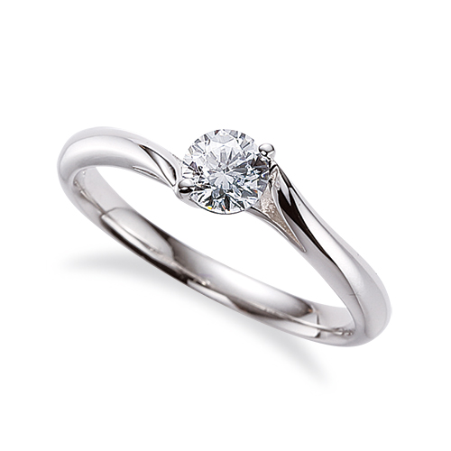 指輪 18金 ホワイトゴールド 天然石 一粒リング 主石の直径約4.4mm ソリティア ウェーブ 二本爪留め|K18WG 18k 貴金属 ジュエリー レディース メンズ