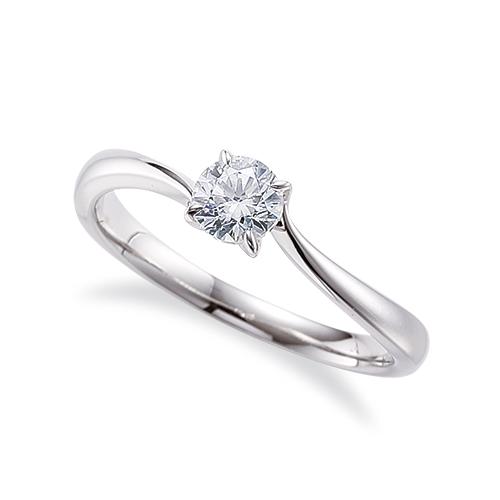 指輪 18金 ホワイトゴールド 天然石 一粒リング 主石の直径約4.4mm ソリティア ウェーブ 四本爪留め|K18WG 18k 貴金属 ジュエリー レディース メンズ