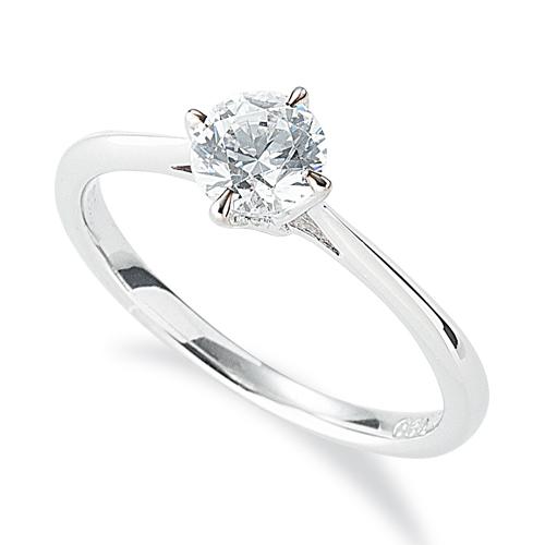 指輪 18金 ホワイトゴールド 天然石 一粒リング 主石の直径約3.4mm ソリティア しぼり腕 四本爪留め|K18WG 18k 貴金属 ジュエリー レディース メンズ