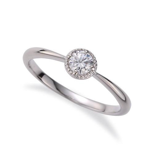 指輪 18金 ホワイトゴールド 天然石 花モチーフの一粒リング 主石の直径約3.8mm ソリティア 四本爪留め|K18WG 18k 貴金属 ジュエリー レディース メンズ