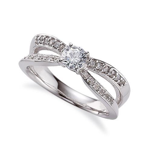 指輪 18金 ホワイトゴールド 天然石 サイドストーンリング 主石の直径約5.2mm 割り腕 四本爪留め|K18WG 18k 貴金属 ジュエリー レディース メンズ