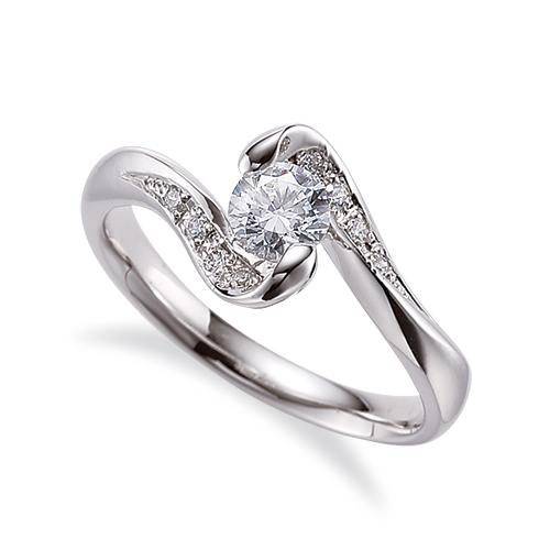 指輪 18金 ホワイトゴールド 天然石 サイドストーンリング 主石の直径約4.4mm 抱き合わせ腕|K18WG 18k 貴金属 ジュエリー レディース メンズ