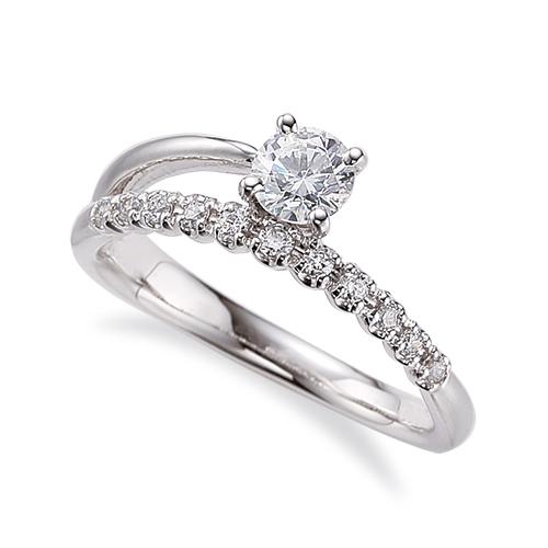指輪 18金 ホワイトゴールド 天然石 サイド一文字リング 主石の直径約4.4mm 割り腕 四本爪留め|K18WG 18k 貴金属 ジュエリー レディース メンズ