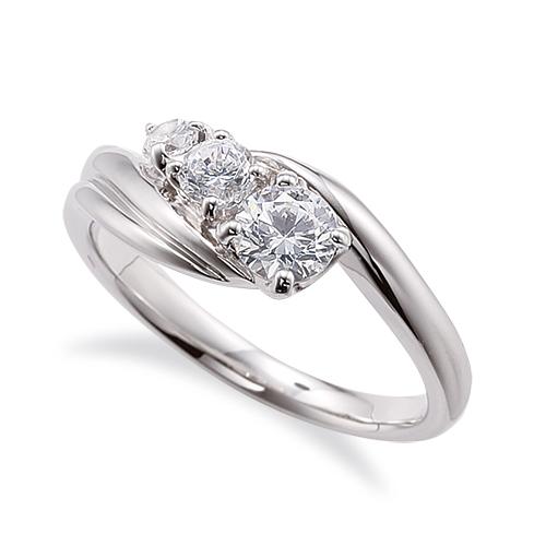 豪奢な 指輪 18金 ホワイトゴールド 天然石 サイドストーンリング 主石の直径約4.1mm ウェーブ 四本爪留め|K18WG 18k 貴金属 ジュエリー レディース メンズ 母の日 プレゼント ギフト 無料ラッピング, 大蔵質店 c0c9f5e2