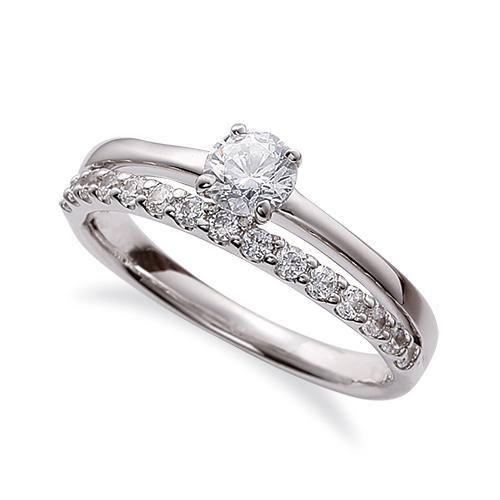 指輪 18金 ホワイトゴールド 天然石 サイド一文字リング 主石の直径約3.0mm 割り腕 四本爪留め|K18WG 18k 貴金属 ジュエリー レディース メンズ