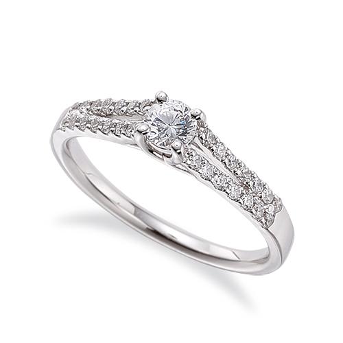 指輪 18金 ホワイトゴールド 天然石 メレがラインになったサイドストーンリング 主石の直径約3.8mm 割り腕 四本爪留め|K18WG 18k 貴金属 ジュエリー レディース メンズ
