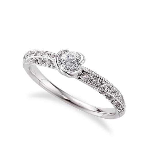 指輪 18金 ホワイトゴールド 天然石 メレがラインになったサイドストーンリング 主石の直径約4.4mm|K18WG 18k 貴金属 ジュエリー レディース メンズ
