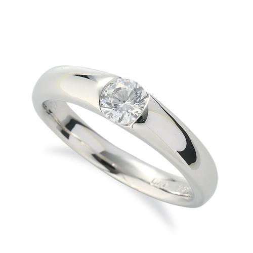 指輪 18金 ホワイトゴールド 天然石 一粒リング 主石の直径約4.4mm ソリティア レール留め K18WG 18k 貴金属 ジュエリー レディース メンズ