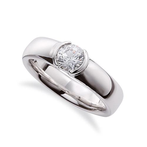 指輪 18金 ホワイトゴールド 天然石 一粒リング 主石の直径約3.0mm ソリティア レール留め K18WG 18k 貴金属 ジュエリー レディース メンズ