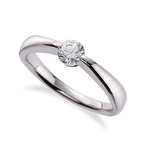 指輪 18金 ホワイトゴールド 天然石 一粒リング 主石の直径約3.8mm ソリティア しぼり腕 二本爪留め|K18WG 18k 貴金属 ジュエリー レディース メンズ