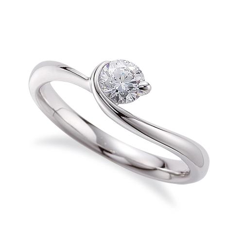 指輪 18金 ホワイトゴールド 天然石 一粒リング 主石の直径約3.0mm ソリティア ウェーブ レール留め K18WG 18k 貴金属 ジュエリー レディース メンズ