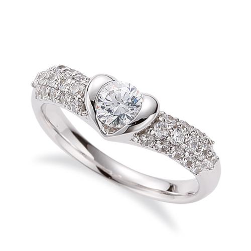 指輪 18金 ホワイトゴールド 天然石 サイドパヴェリング 主石の直径約4.4mm V字 レール留め|K18WG 18k 貴金属 ジュエリー レディース メンズ