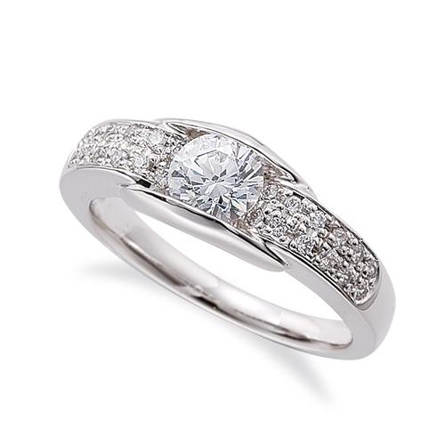 指輪 18金 ホワイトゴールド 天然石 サイドパヴェリング 主石の直径約5.2mm レール留め|K18WG 18k 貴金属 ジュエリー レディース メンズ