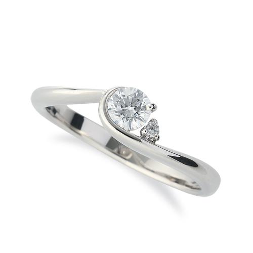 指輪 18金 ホワイトゴールド 天然石 サイドストーンリング 主石の直径約3.8mm ウェーブ レール留め|K18WG 18k 貴金属 ジュエリー レディース メンズ