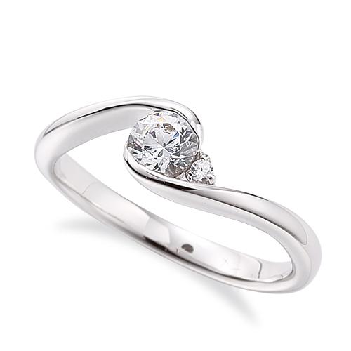 指輪 18金 ホワイトゴールド 天然石 サイドストーンリング 主石の直径約5.2mm 抱き合わせ腕 レール留め|K18WG 18k 貴金属 ジュエリー レディース メンズ