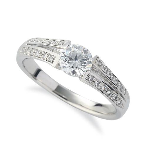 指輪 18金 ホワイトゴールド 天然石 メレがラインになったサイドストーンリング 主石の直径約5.2mm 割り腕|K18WG 18k 貴金属 ジュエリー レディース メンズ